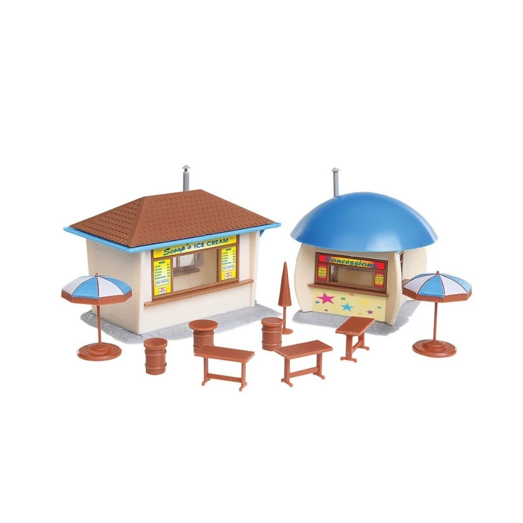 HO Scale: Food Stands - Kit - 2 Stands