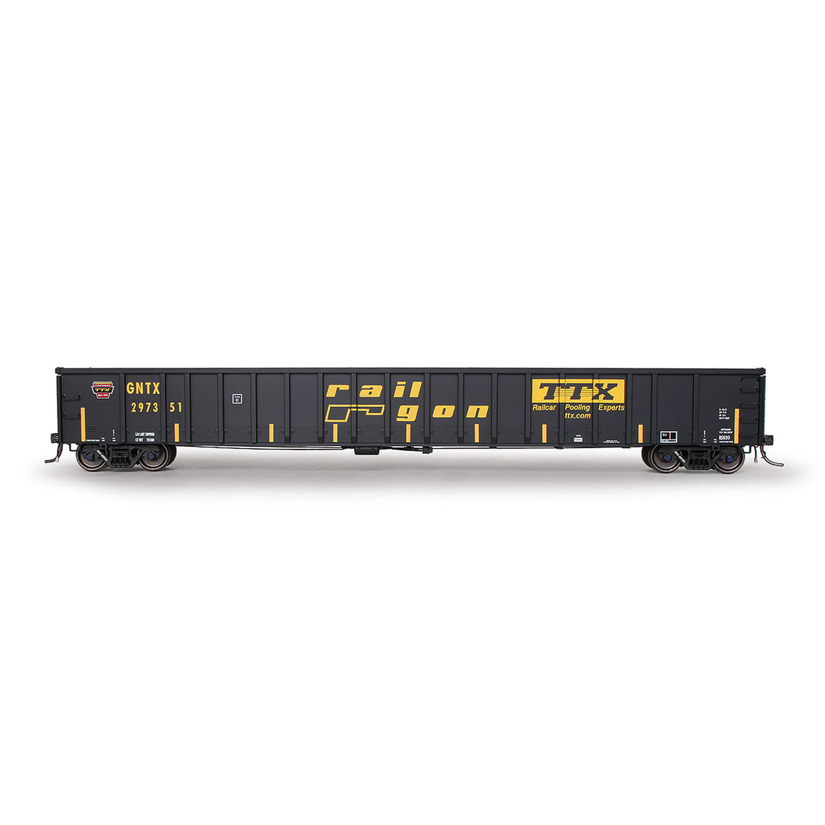 HO Scale: Thrall 3564 Gondola - TTX 'Gold Crown'