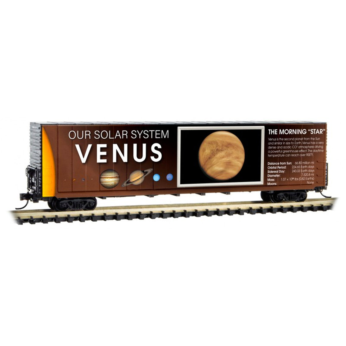 N Scale: 60' Excess Height Boxcar - Solar System Series - Venus