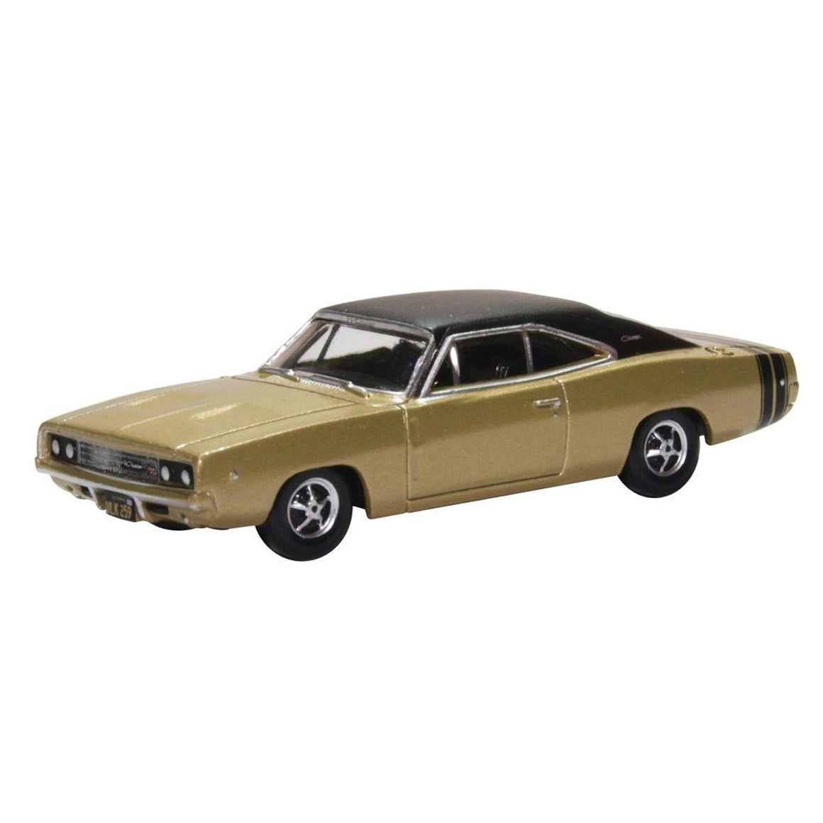 HO Scale: 1968 Dodge Charger - Gold w/ Black Stripes