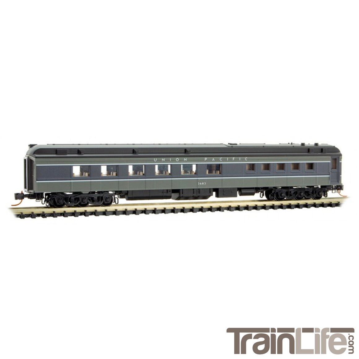 N Scale: Heavyweight Diner Car - Union Pacific
