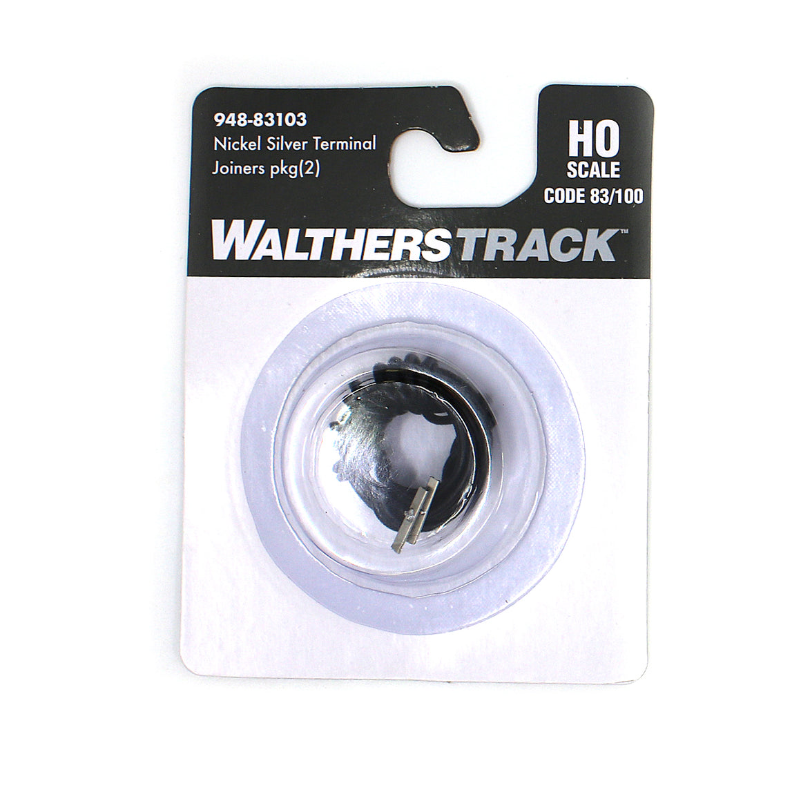 HO Scale: Code 83/100 Nickel Silver Terminal Rail Joiners with 22-Gauge Wire