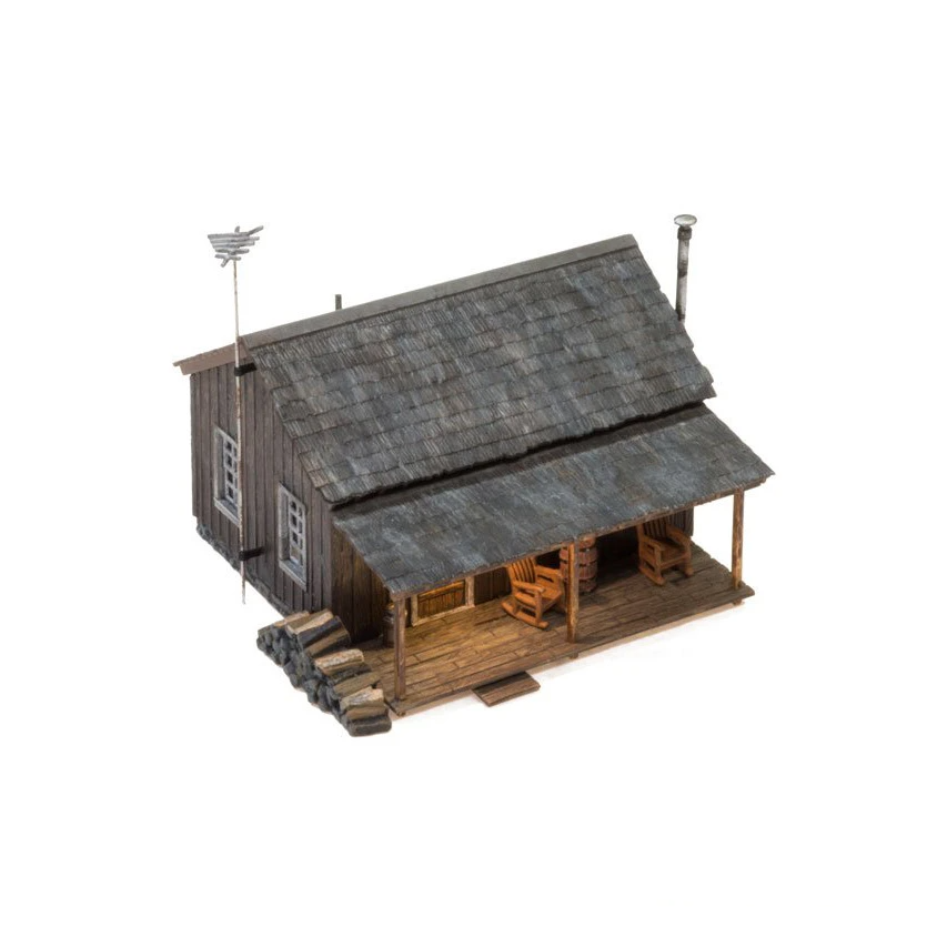 N Scale: Just Plug® Rustic Cabin