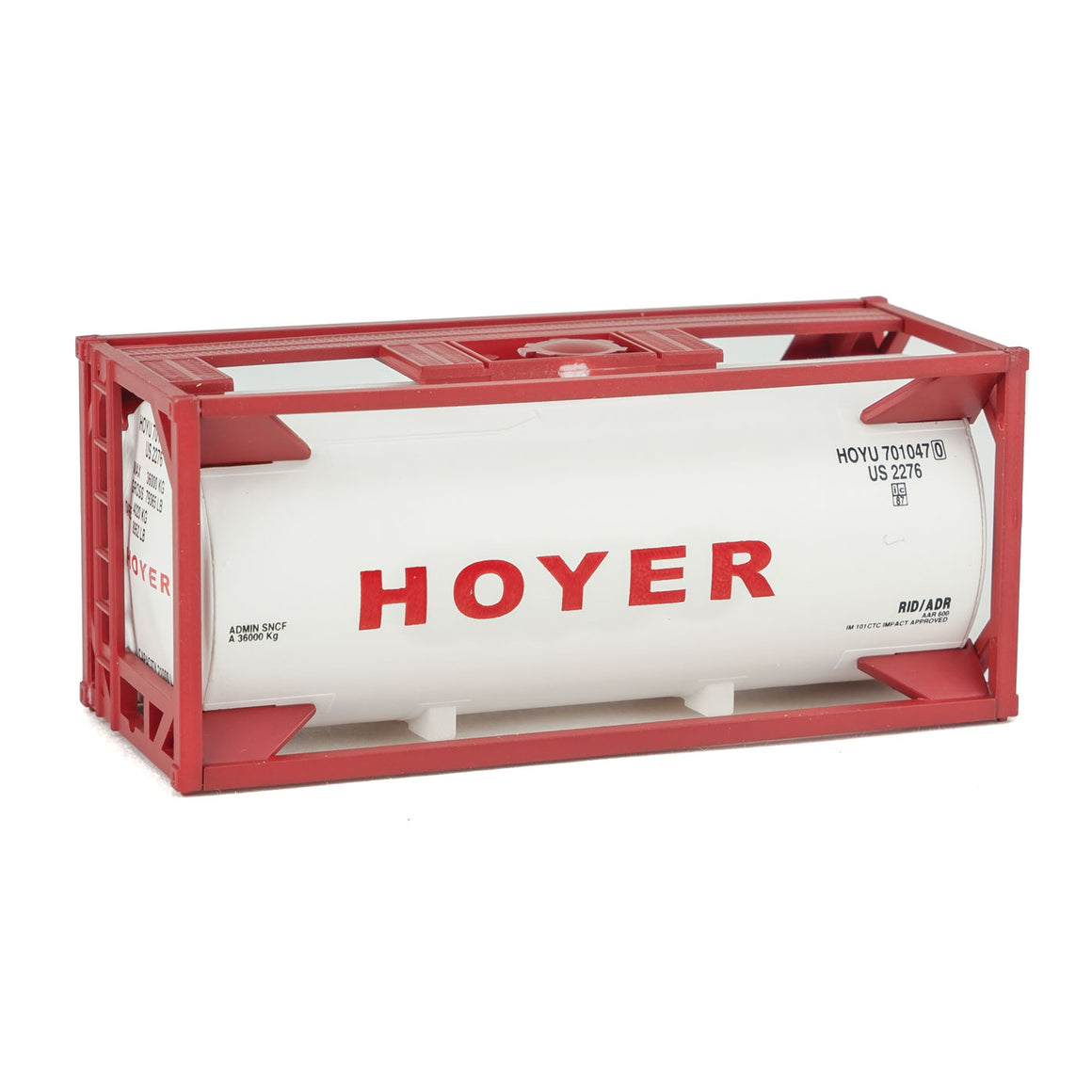 HO Scale: 20' Tank Container - Hoyer - Kit