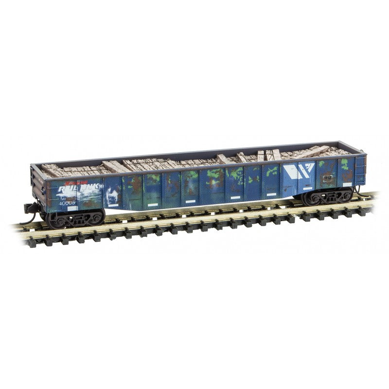 N Scale: Tie Loader - Montana Rail Link - 3 Pack