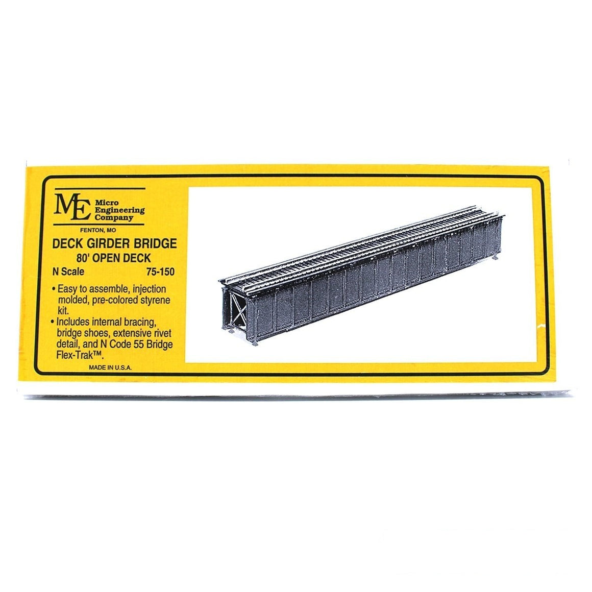 N Scale: Open Deck Girder Bridge - 80-Foot