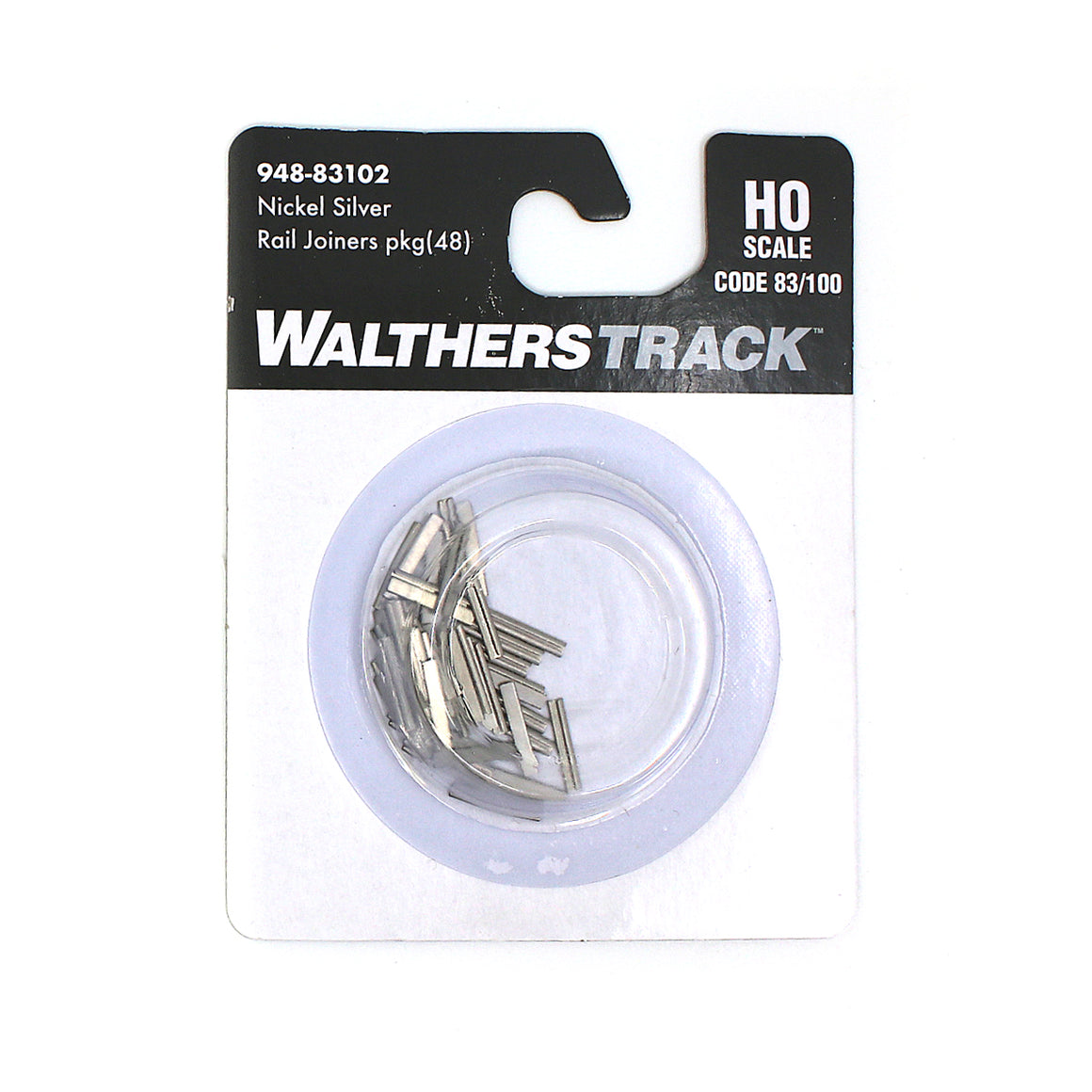 HO Scale: Code 83/100 Nickel Silver Rail Joiners