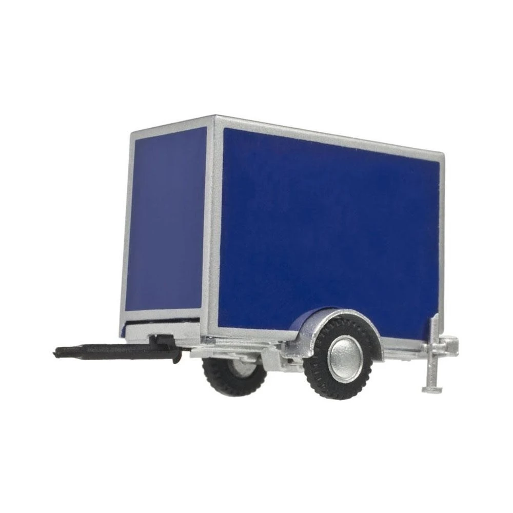 HO Scale: Standard Single Axle Box Trailer - Blue