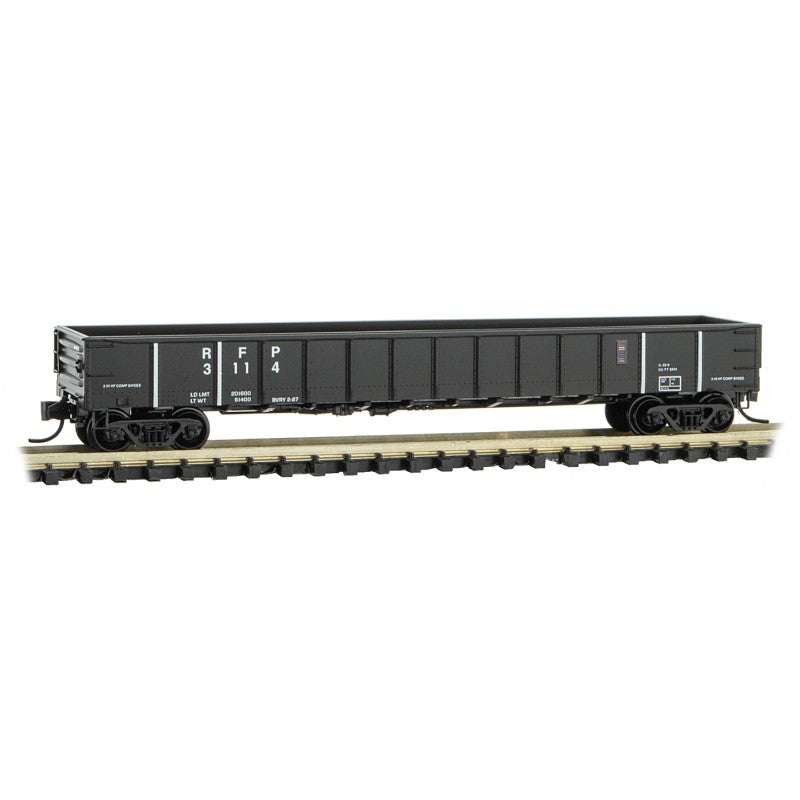 N Scale: 50' Steel Side Gondola - RF&P