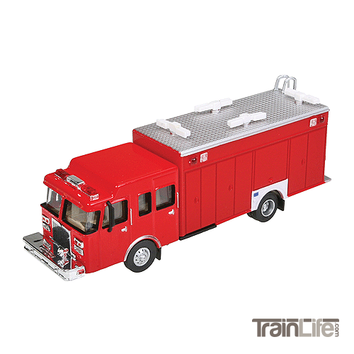 HO Scale: Lighted Heavy-Duty Hazmat Truck