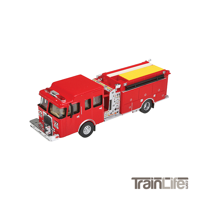 HO Scale: Lighted Heavy-Duty Fire Engine