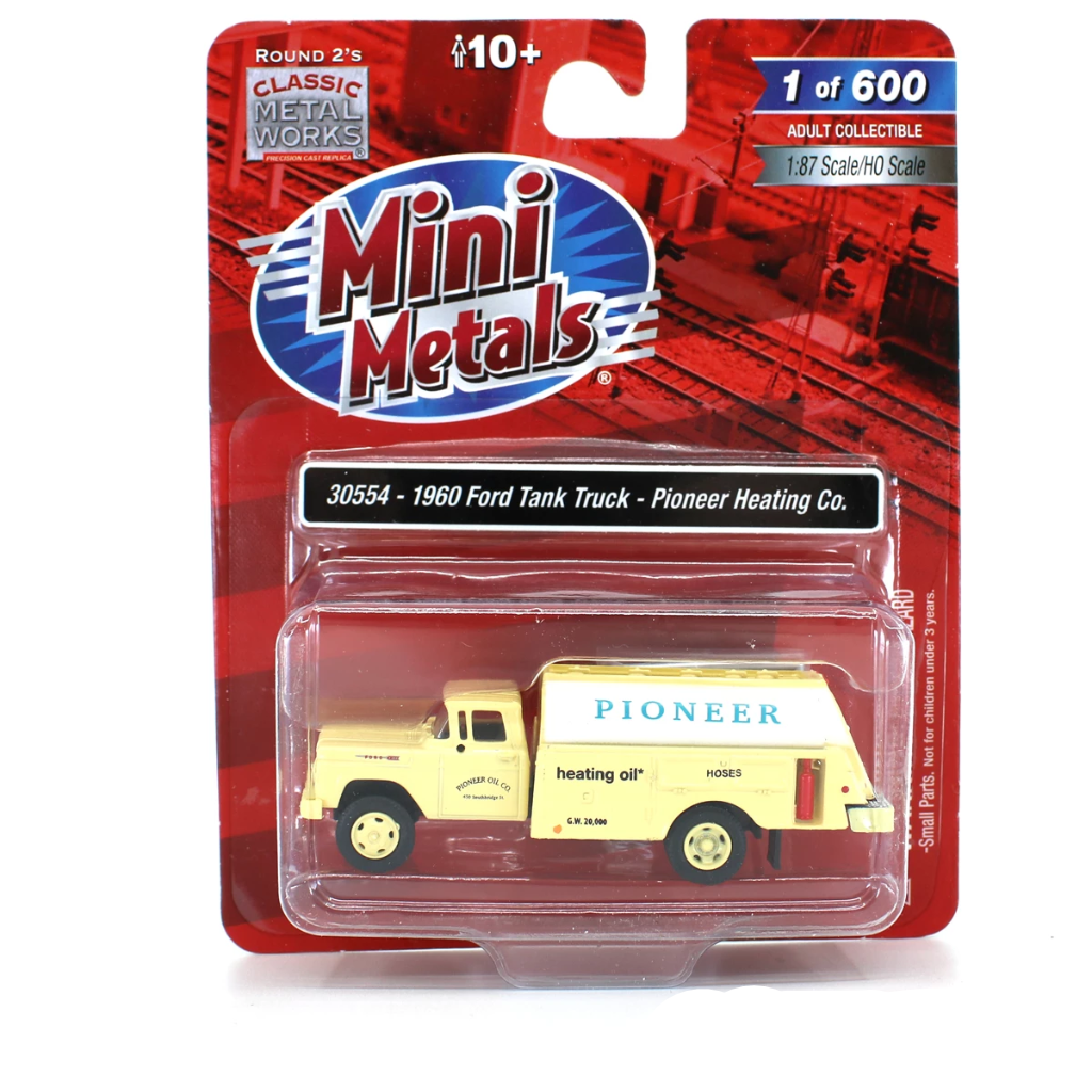 HO Scale: 1960 Ford Tank Truck - Pioneer Heating Co.
