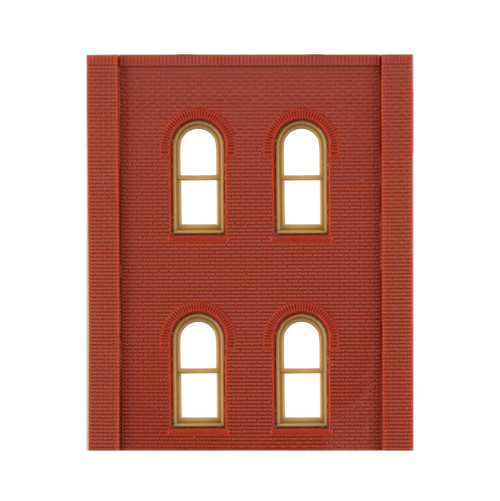 HO Scale: Modular Structures - Two-Story Arched Window Panels - Kit