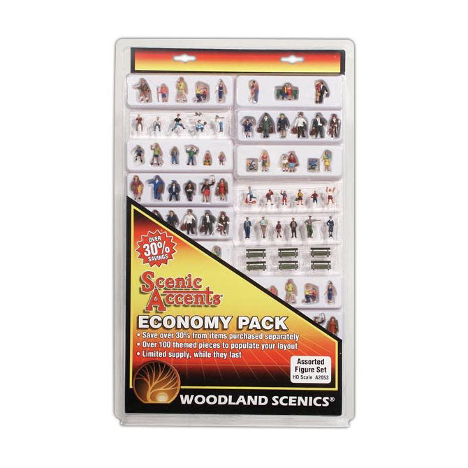 HO Scale: Assorted Figure Set - Economy Pack