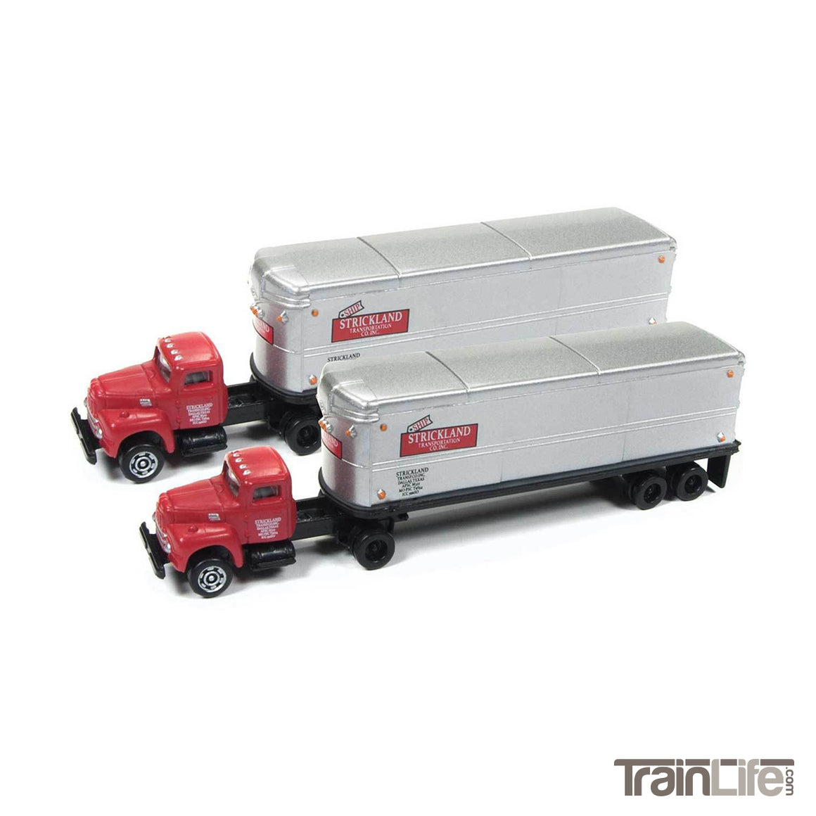 N Scale: IH R-190 Tractor & Trailer Set - Strickland Transportation - 2 Pack