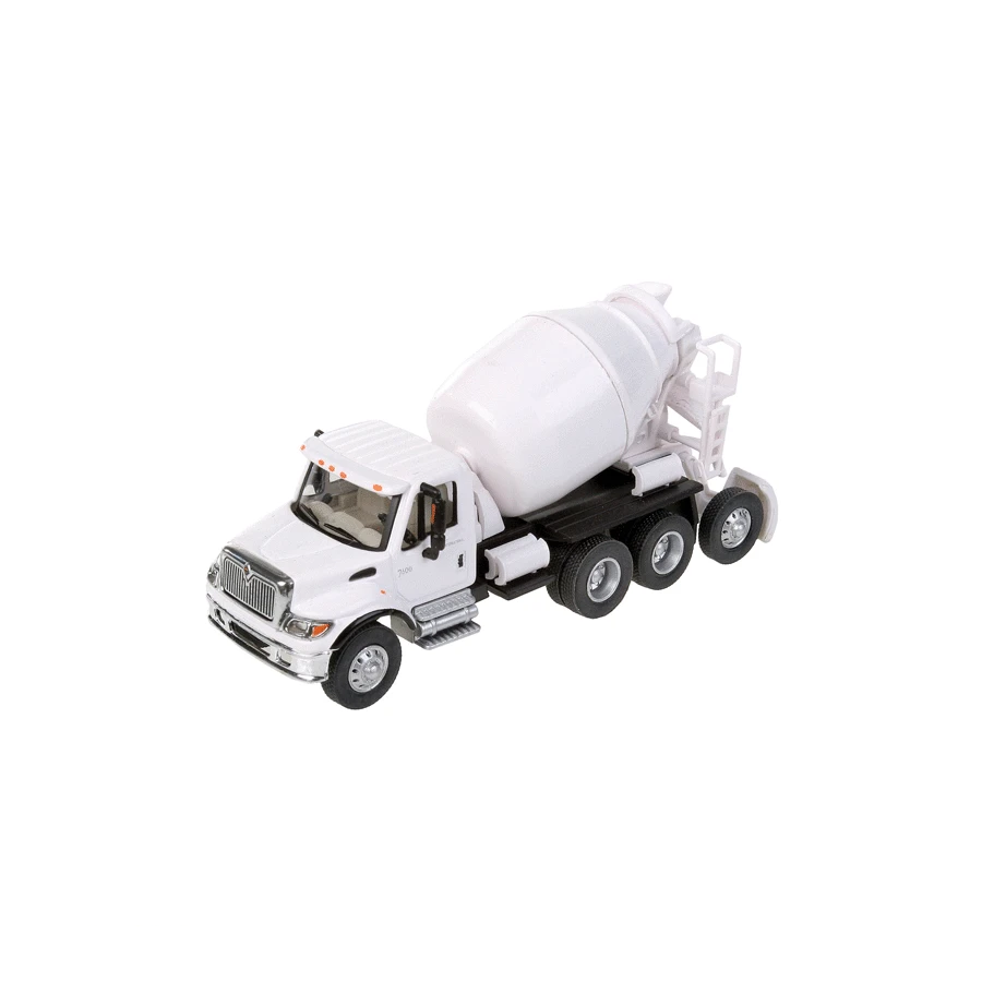 HO Scale: International® 7600 3-Axle Cement Mixer - White