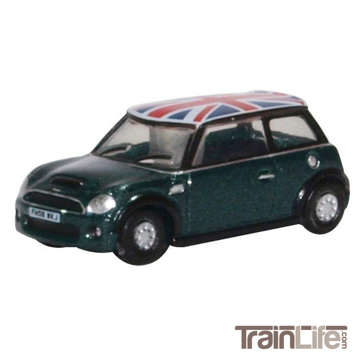 N Scale: Mini Cooper - Green w/ Union Jack