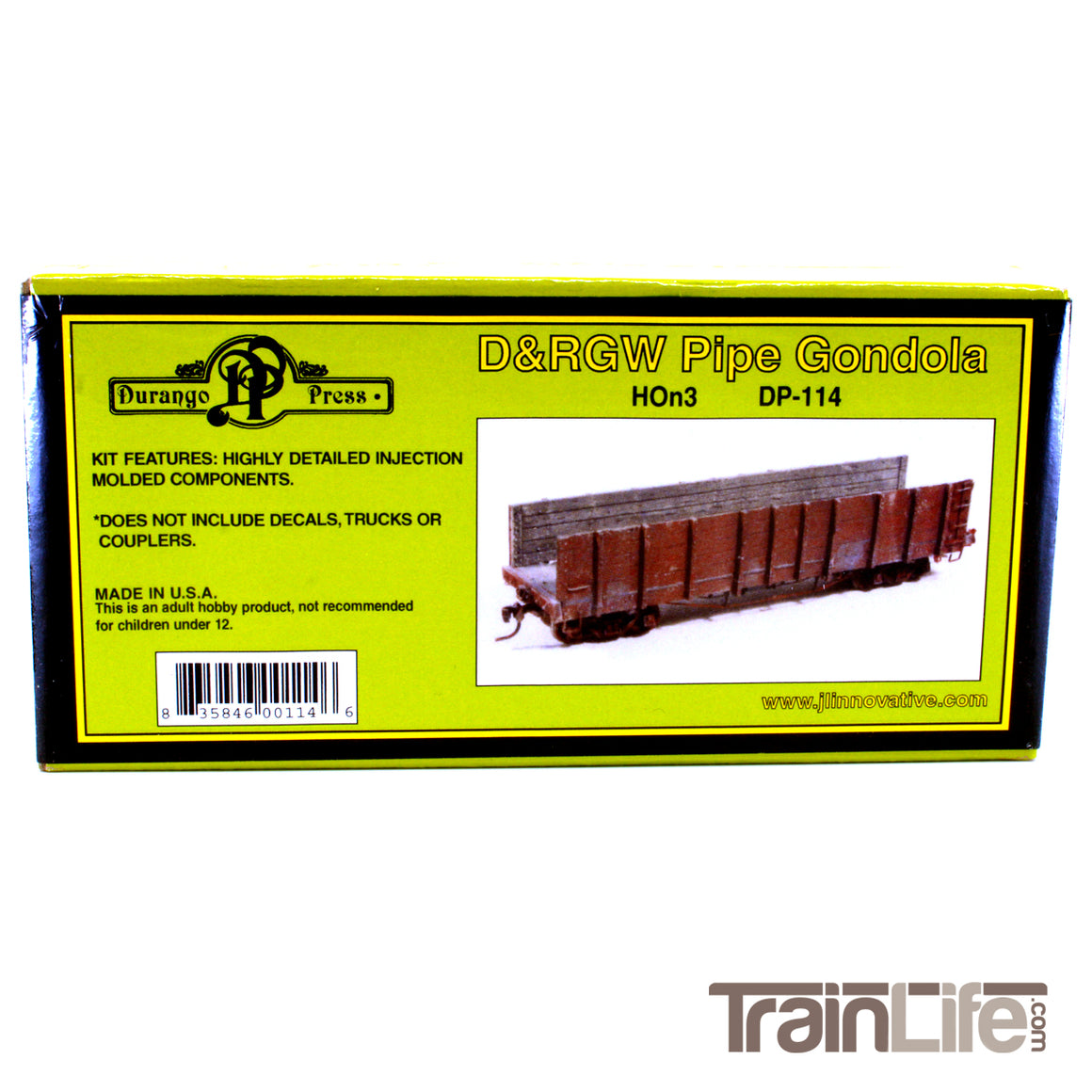 HOn3 Gauge: Pipe Gondola - D&RGW - Kit
