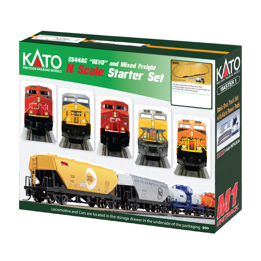 N Scale: GE ES44AC GEVO Mixed Freight - Train Set - Union Pacific