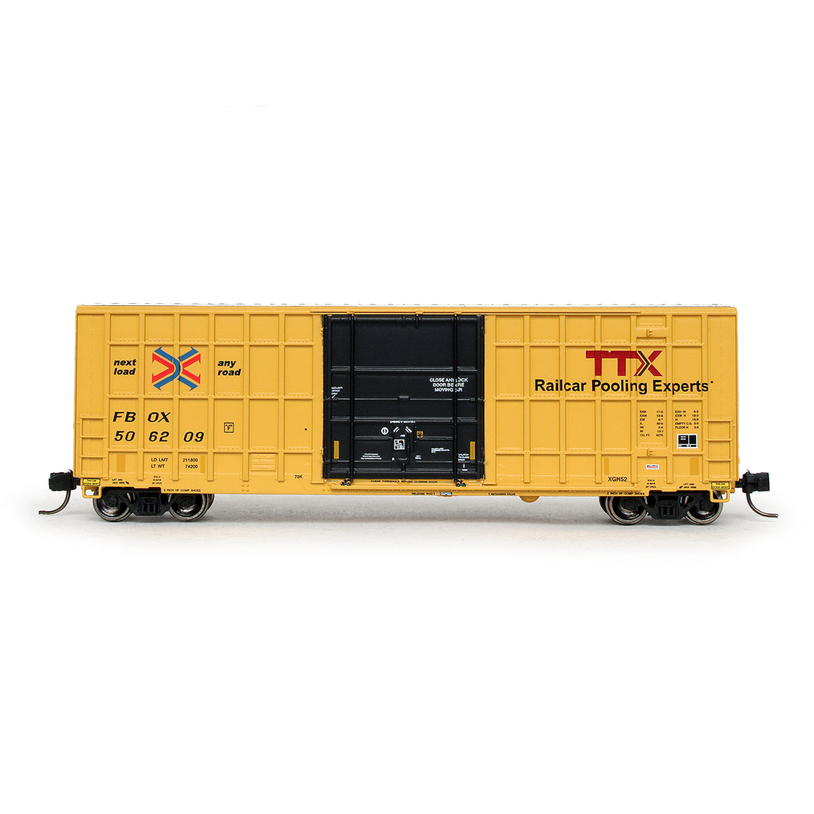N Scale: Trinity 6275 Boxcar - TTX/FBOX '2012 As-Delivered'