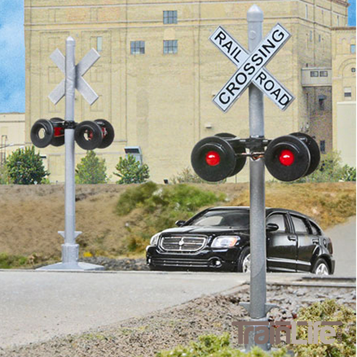 HO Scale: Flashing Crossing Signals - Pkg(2)