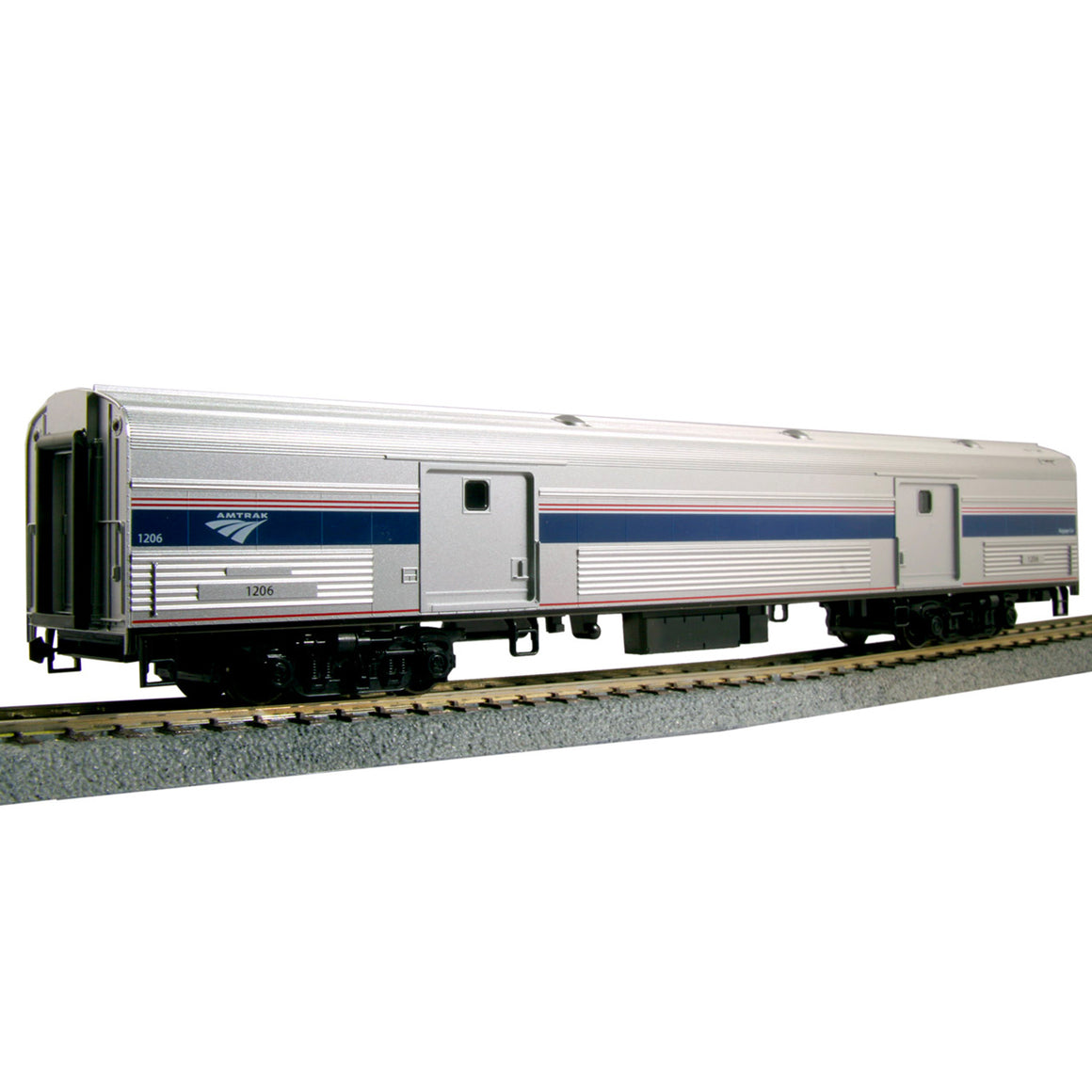 HO Scale: Amtrak Baggage Car - Phase VI - Lighted