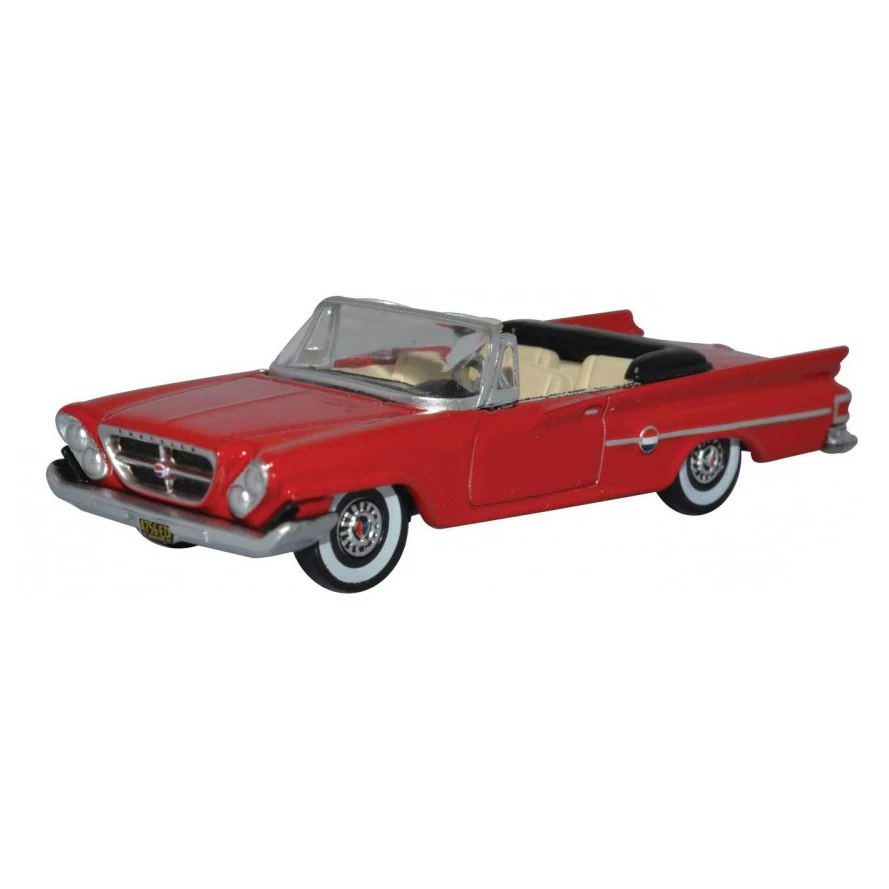 HO Scale: 1961 Chrysler 300 Convertible - Mardi Gras Red