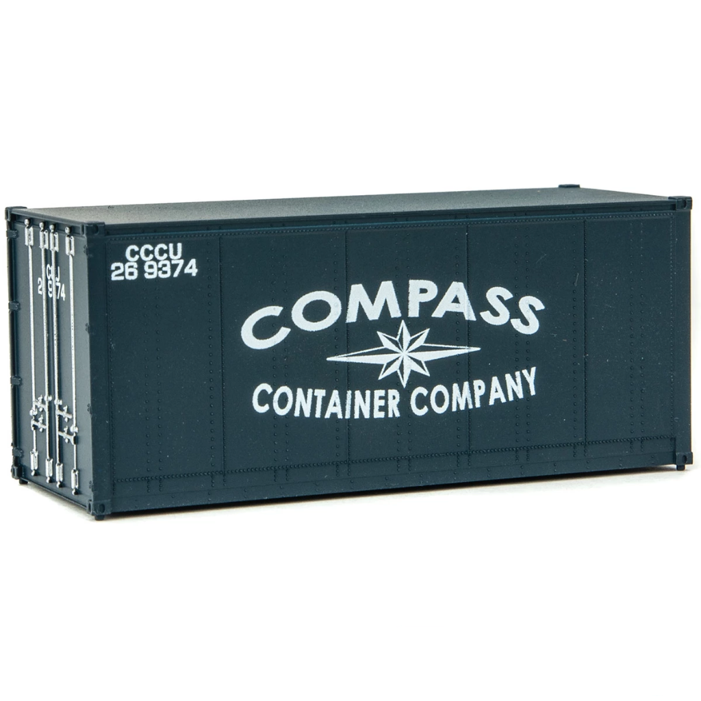 HO Scale: 20' Smooth-side Container - Compass