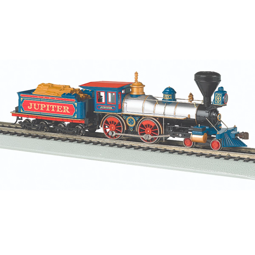 "HO Scale: 4-4-0 Steam Locomotive - DCC-Ready - Central Pacific ""Jupiter"""