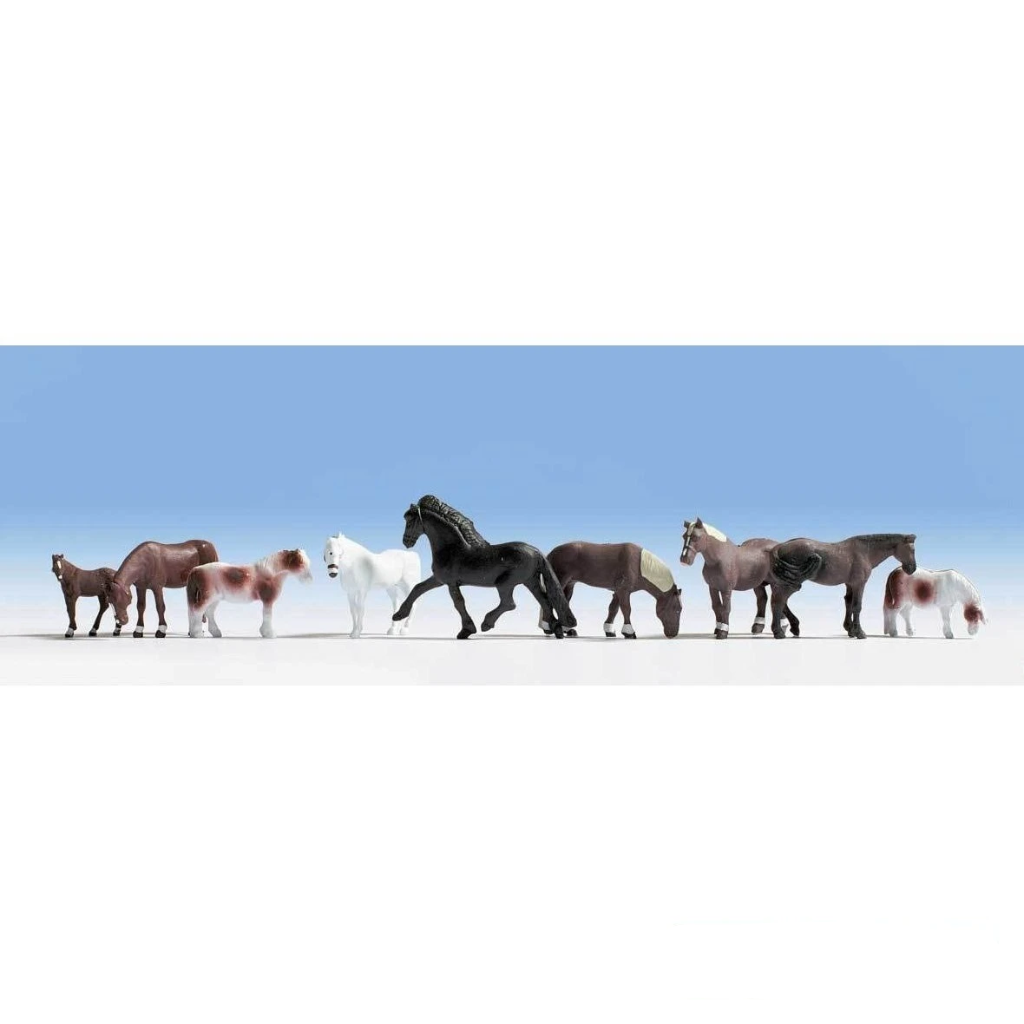 HO Scale: Majestic Horses - 9 Pack