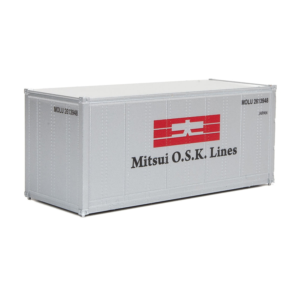 HO Scale: 20' Smooth-side Container - Mitsui OSK