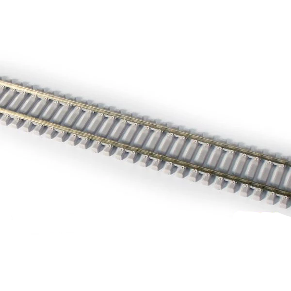 HO Scale: 3' Concrete Tie Weathered Flex-Track - Code-83 (6 Pack)
