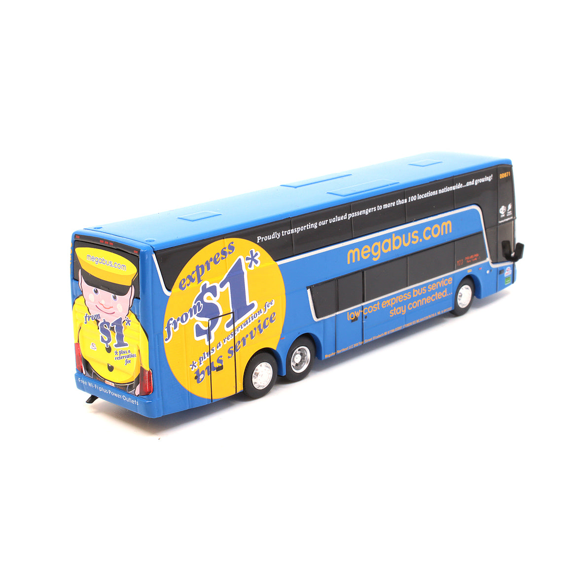 HO Scale: VanHool TDX Double-Deck Motorcoach Bus - Megabus