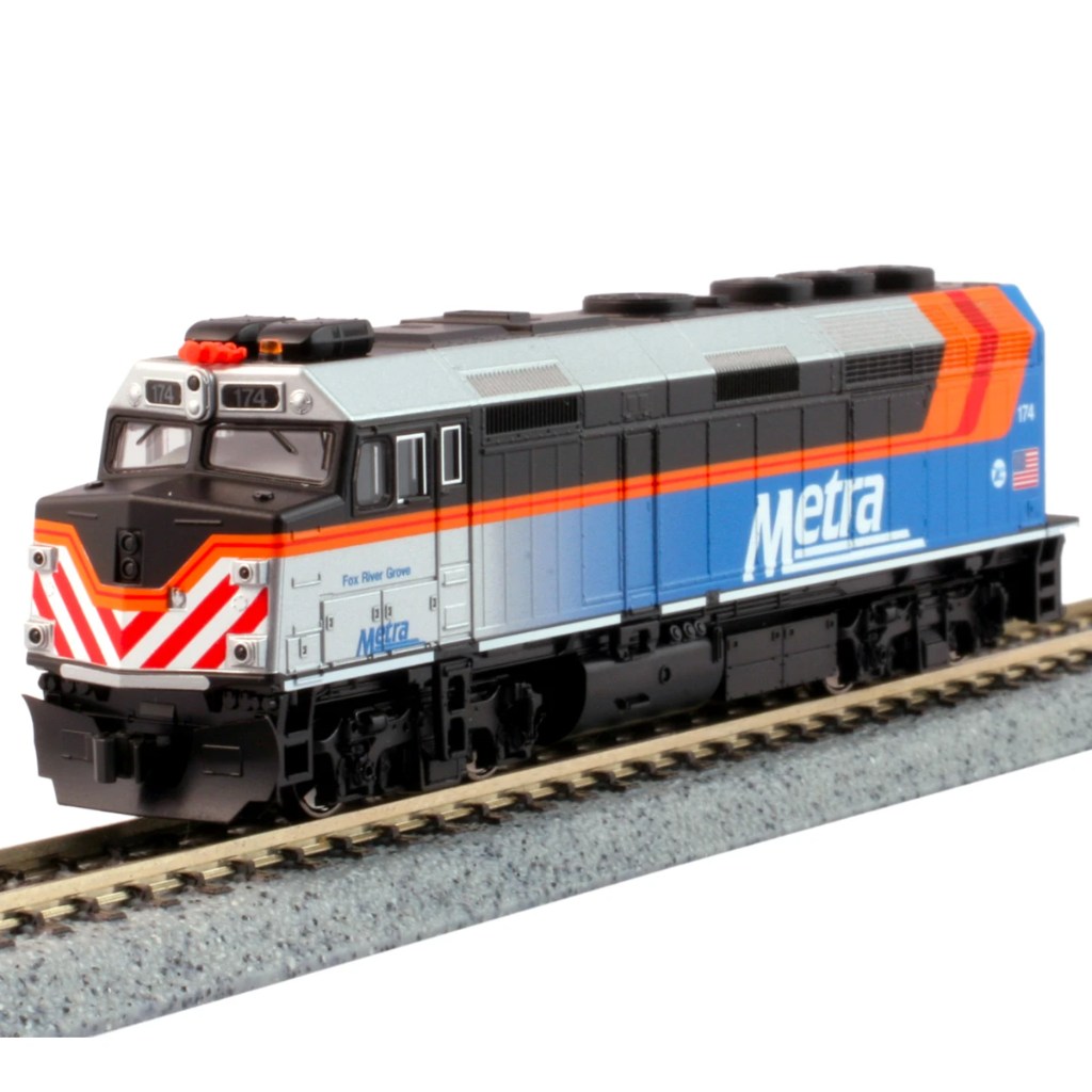 "N Scale: EMD F40PH - DC - Metra ""New Scheme"""