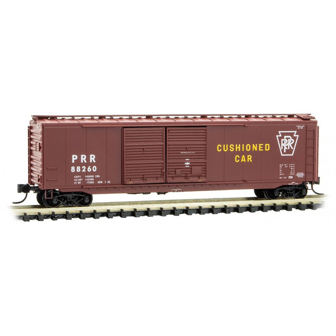 N Scale: 50 Standard Double Door Boxcar - Pennsylvania Railroad