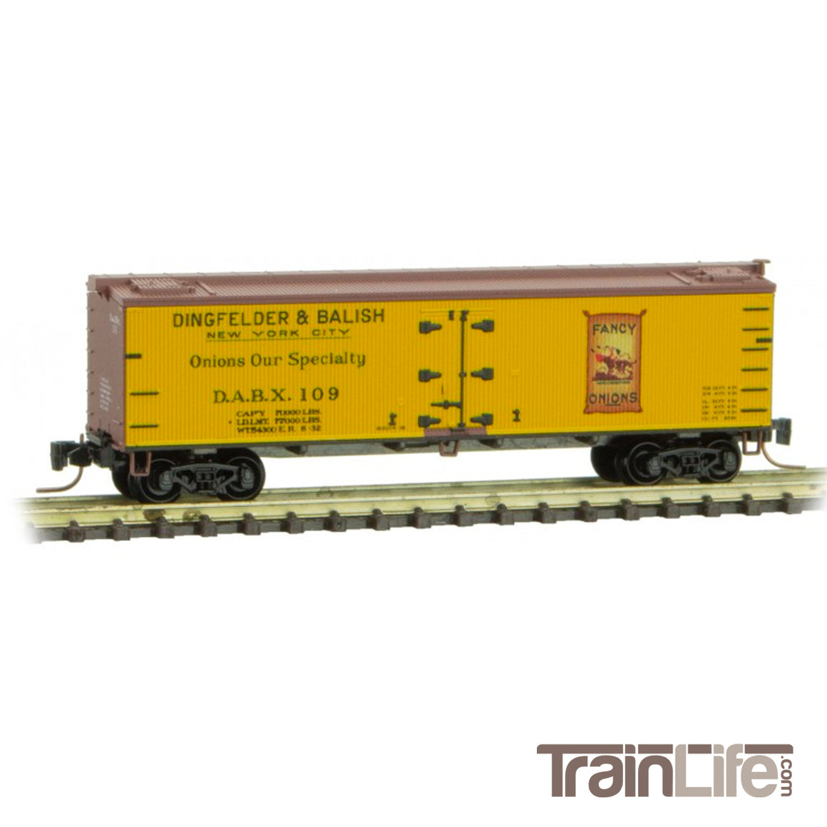 N Scale: 40-Foot Wood Reefer - Dingfelder & Balish Onions