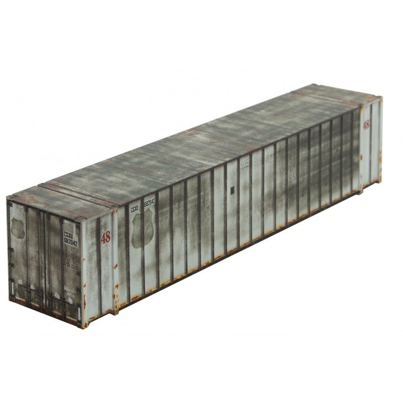 N Scale: 48' Rib Side Container - Weathered - CSX (ex-UP)