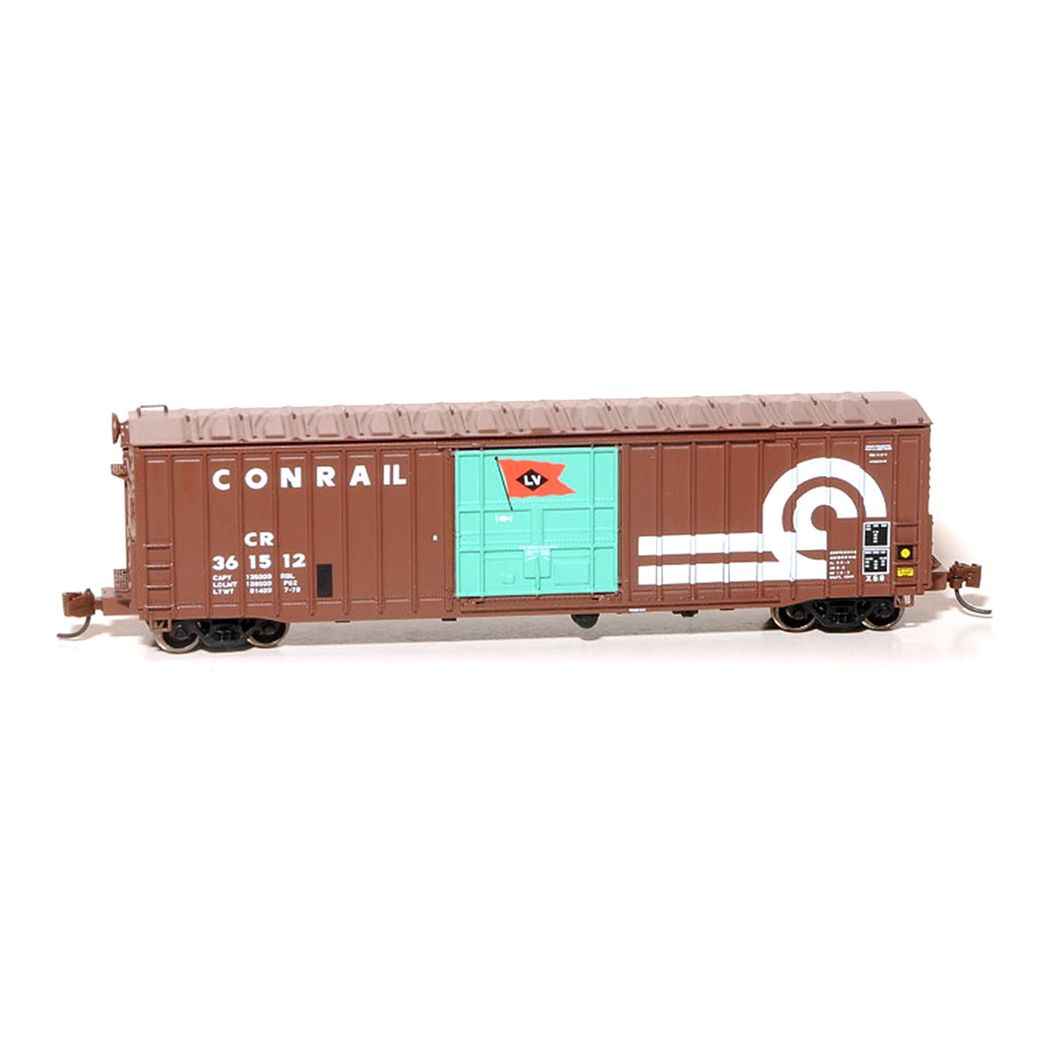 N Scale: Pennsylvania 50' Boxcar, Class X58 - Conrail w/ Replacement LV Door