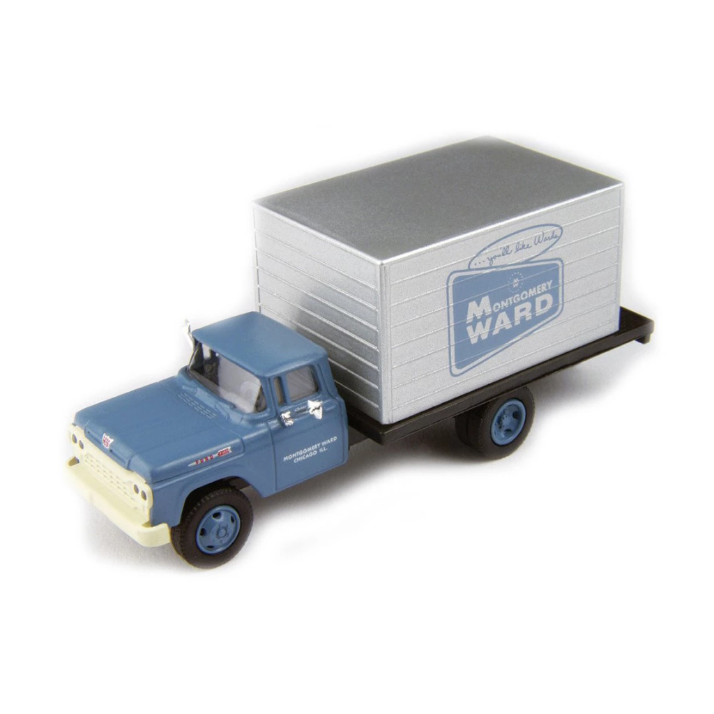 HO Scale: 1960 Ford F-500 Box-Body Delivery Truck - Montgomery Ward
