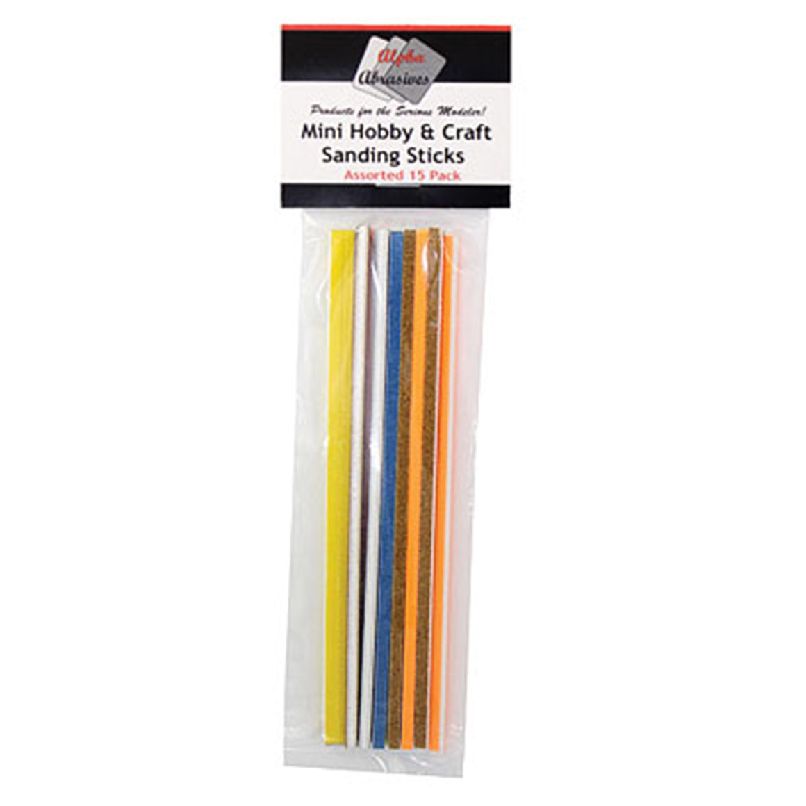 Mini Hobby and Craft Sanding Sticks - 15 Pack