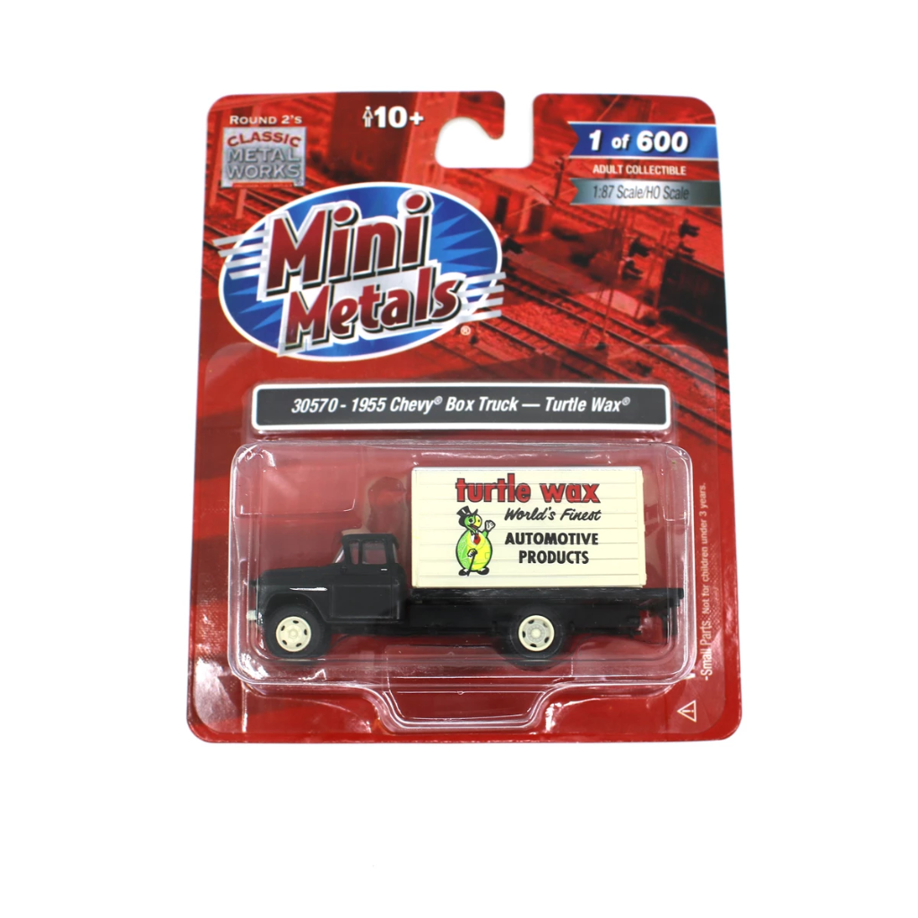 HO Scale: 1955 Chevy Box Truck - Turtle Wax