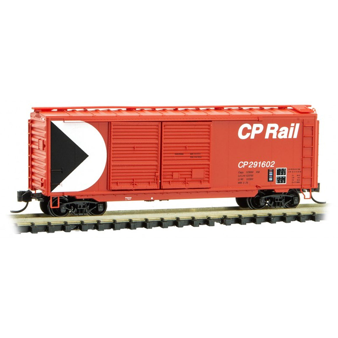 N Scale: 40' Double Door Boxcar - CP Rail