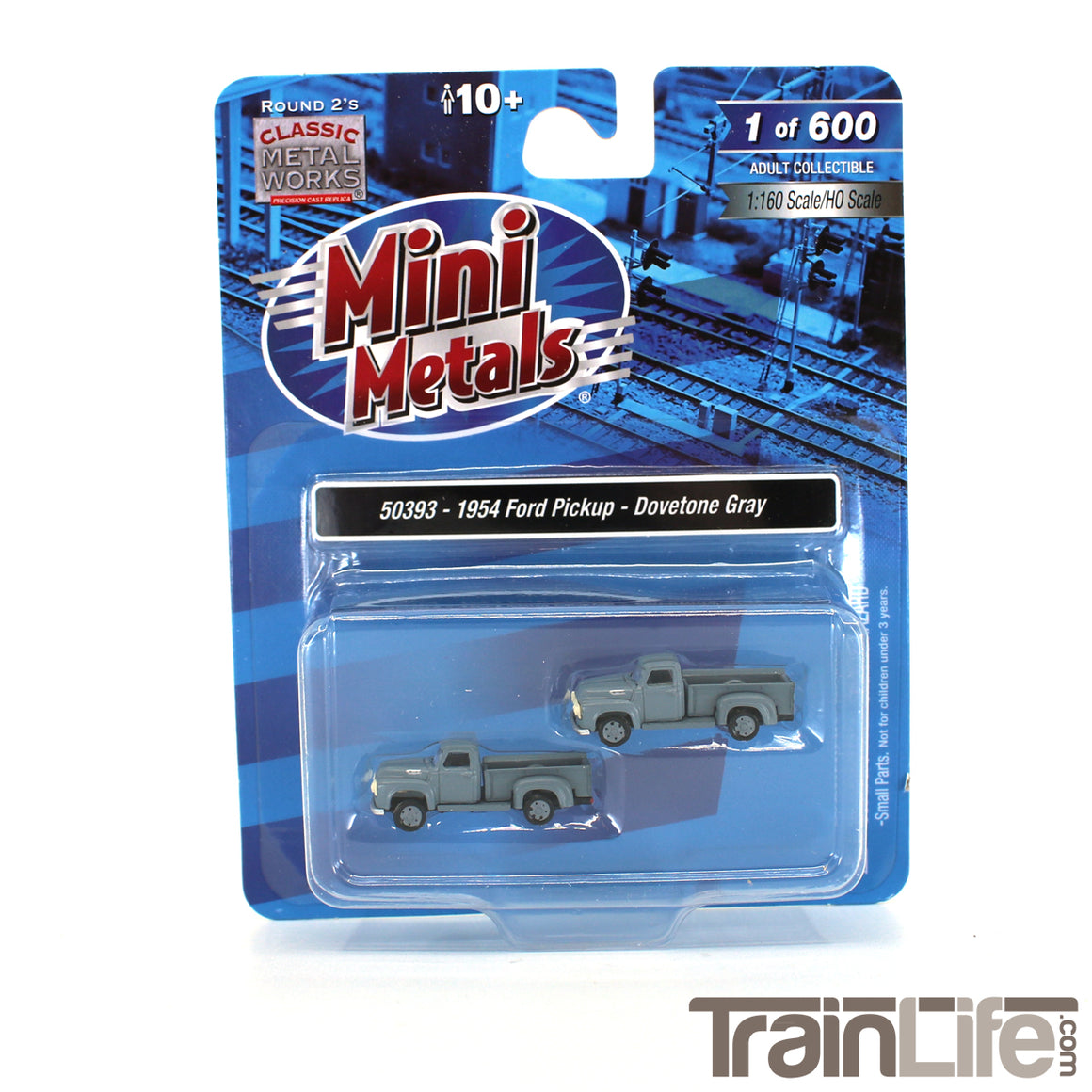 N Scale: 1954 Ford Pickup Truck - Dovetone Gray - 2 Pack