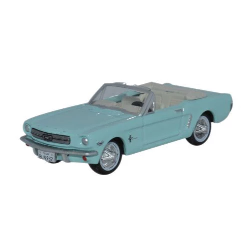 HO Scale: 1965 Ford Mustang Convertible - Tropical Turquoise