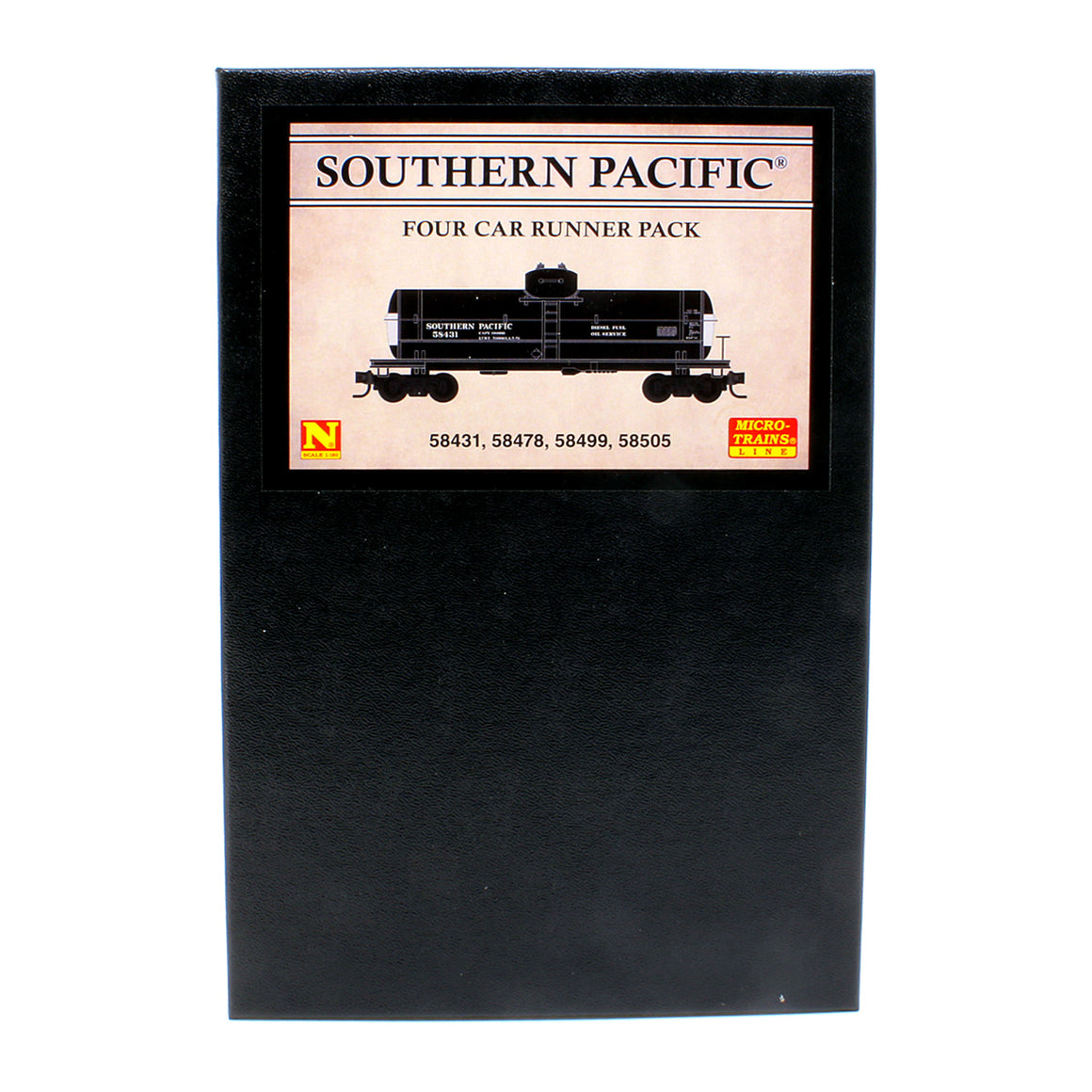 N Scale: 39' Single Dome Tank Car - Southern Pacific 'Diesel Fuel Service' - 4 Pack