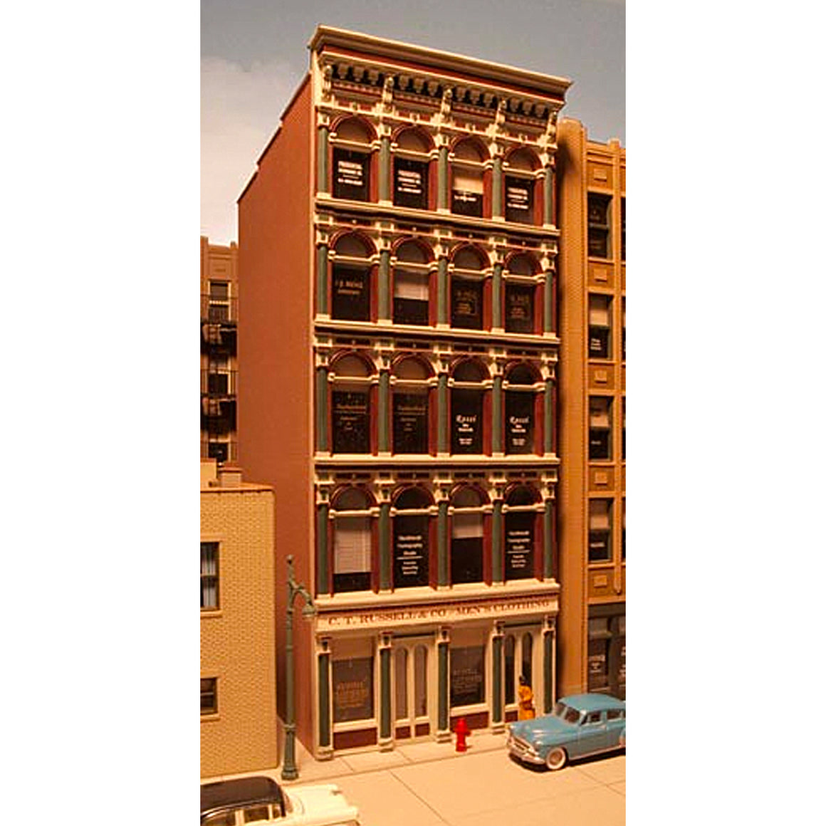HO Scale: Grant Street Building Iron-Front - Kit