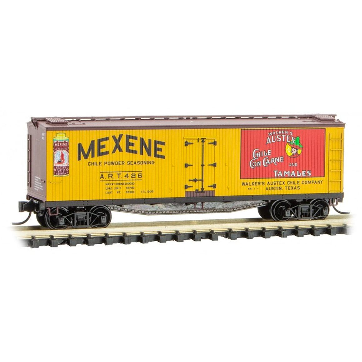 N Scale: 40' Double Sheathed Wood Reefer - Mexene
