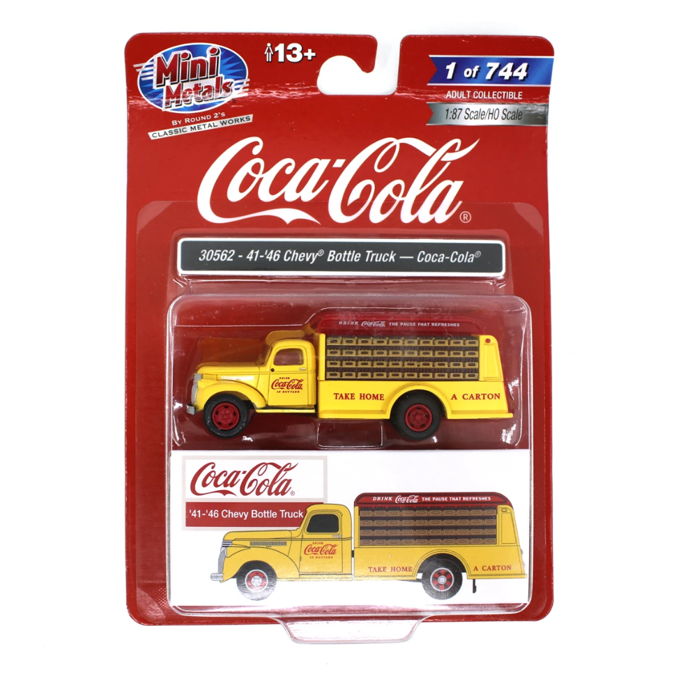 HO Scale: 1941-1946 Chevy Bottle Truck - Coca-Cola