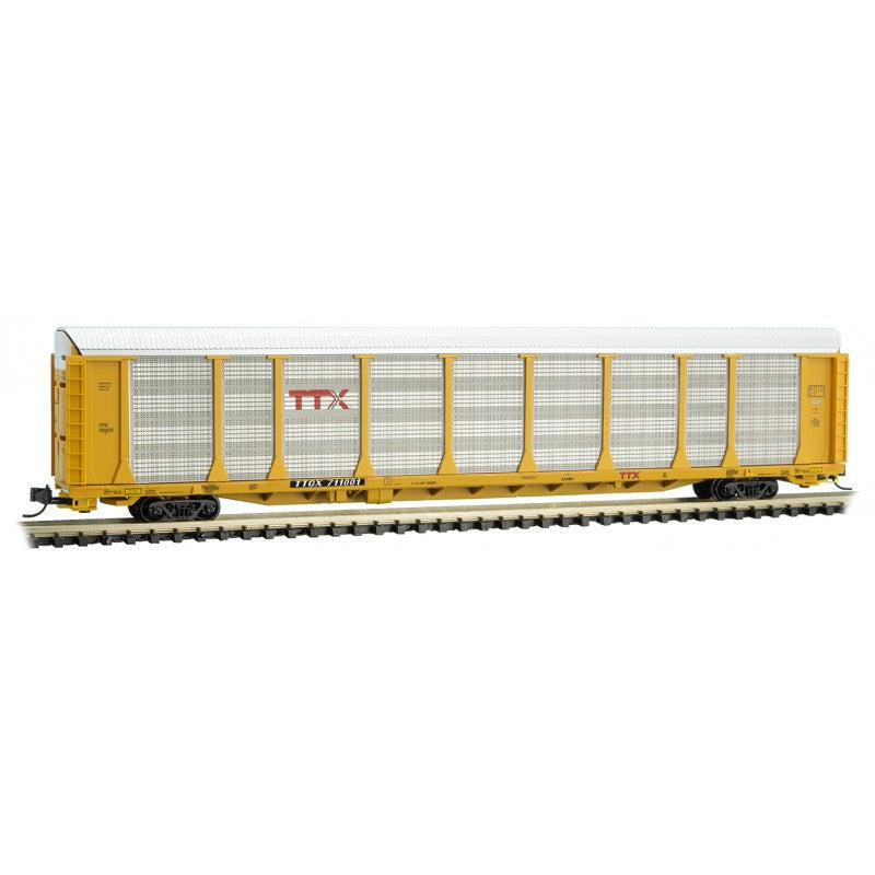 N Scale: 89' Tri-Level Closed Autorack - TTX