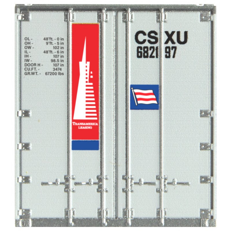 N Scale: 48' Rib Side Container - CSX (ex-ICSU)